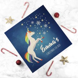 Personalised Rainbow Unicorn Christmas Eve Box