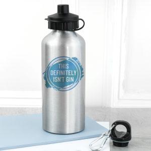 Personalised Silver Water Bottle