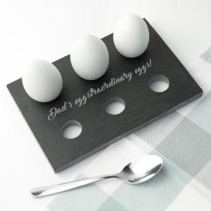 Personalised Slate Egg Holder