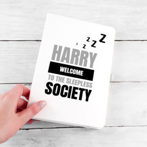 Personalised Sleepless Society A5 Notebook