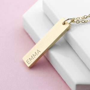 Personalised Statement Bar Necklace