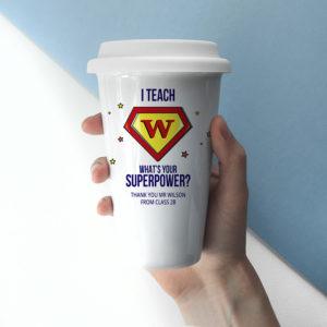 Personalised Super Teacher Travel Mug