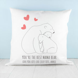 Personalised The Best Mama Bear Cushion Cover