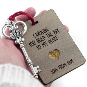 Personalised The Key My Heart Keepsake