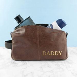 Personalised Vintage Style Wash Bag
