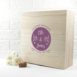 Personalised Wedding Memory Box