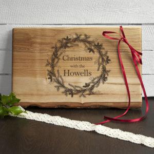 Personalised Welsh Ash Christmas Serving Board