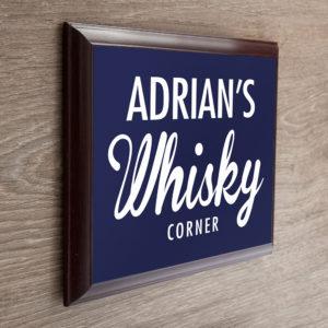 Personalised Whiskey Corner Plaque