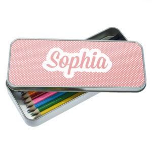 Pink Dots Dotty Designed Pencil Case