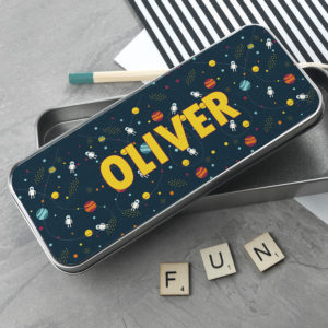 Planets and Space Themed Pencil Case