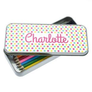 Pop Art Dotty Designed Pencil Case
