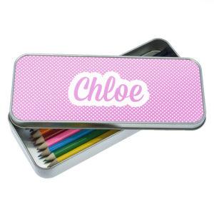 Purple Dots Dotty Designed Pencil Case
