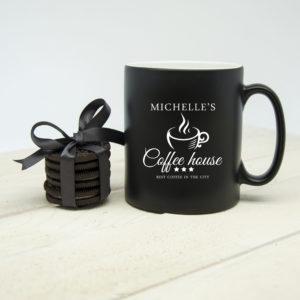 Silhouette Coffee House Mug