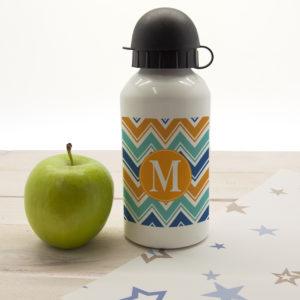 Vibrant Zig Zagged Personalised Water Bottle