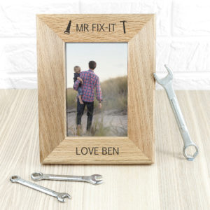 Wordsworth Collection Mr. Fix-it Engraved Photo Frame